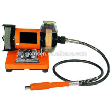 """75mm 3 """"100W Jewelers Bench Grinder con eje flexible GW8062-2"""