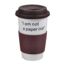 Portavasos de café de caucho de silicona reutilizable resistente al calor