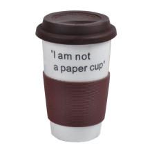 Support de tasse à café en caoutchouc de silicone réutilisable résistant à la chaleur