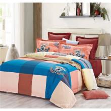 2015 Новый продукт Plaid Детские постельные принадлежности с пододеяльником наволочки и плоский лист