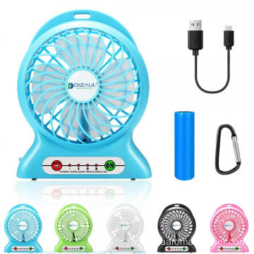 Ventilateur USB portatif à piles rechargeable mini