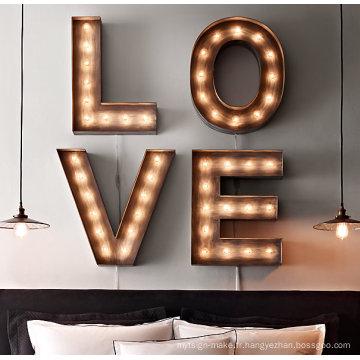 Lettre d'ampoule LED de haute qualité pour la décoration et la publicité