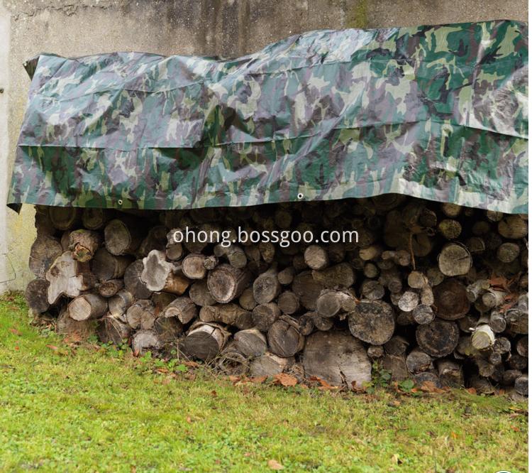 Waterproof Army Green Camoflague Tarpaulin