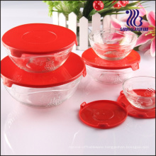 5PCS Hot-Selling Grape Embossed Glass Bowl Set, 5PCS Glass Salad Bowl Set (GB1403TZ)