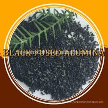 Schwarzes geschmolzenes Aluminiumoxid / schwarzes Aluminiumoxid mit niedrigem Al2O3-Gehalt