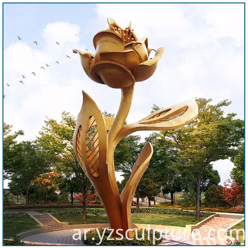 Stainless Steel Rose Sculpture