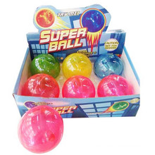 En71 Approval Funnt Toys Crystal 10cm Bouncing Ball with Light (10174429)