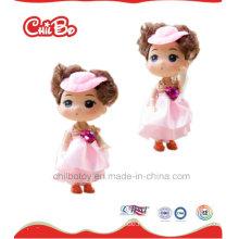 Reizende Kinder Qualitäts-Spielzeug-Rosa-Plastikpuppen, recht
