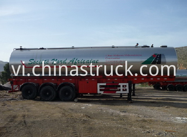 30CBM liquid asphalt tanker with heating and insulation