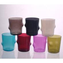 Boca soplada pequeño vidrio Cadle Jar para decoraciones del hogar