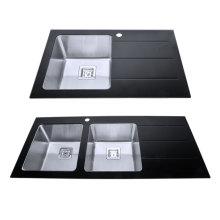 Doppelwaschbecken aus Edelstahl, Waschbecken aus Edelstahl