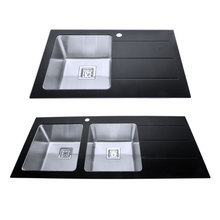 Bench double sink stainless steel bathroom sink