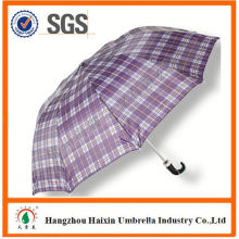 Cheap Prices!! Factory Supply promotional 2 fold big umbrella with Crooked Handle