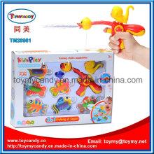 Kids ′ Spray de água de animais dos desenhos animados e jogo de brinquedo de pesca