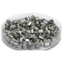 Contato de tungstênio puro para conector elétrico de vácuo