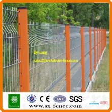 PVC recubierto de acero de enrejado valla cerca de malla de alambre