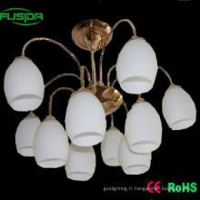 Lampadaire décoratif en verre / éclairage à lustre (X-8106/5 + 5)