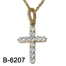 Modeschmuck 925 Sterling Silber Kreuz Anhänger