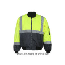 High Visibility Safety Jacket with 3m Reflective Tape