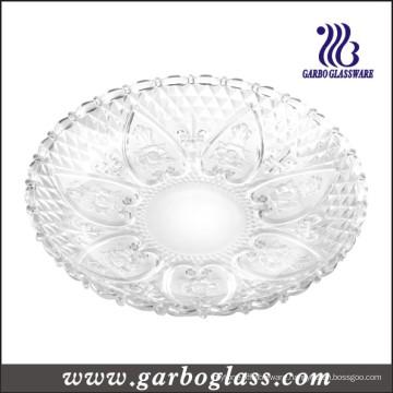 13′′glass Plate & Glass Dinner Plate (GB2303LH)