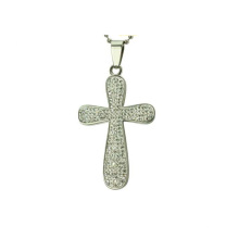 Иерусалим крест кулон,стерлингового серебра небольшой крест кулон оптовой