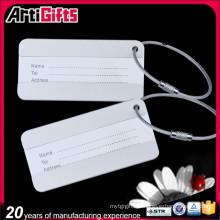 Promotion pas cher en relief logo design bagage tag métal