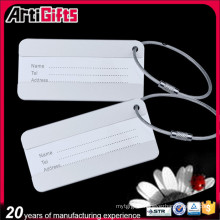 Promotion cheap embossed logo design luggage tag metal