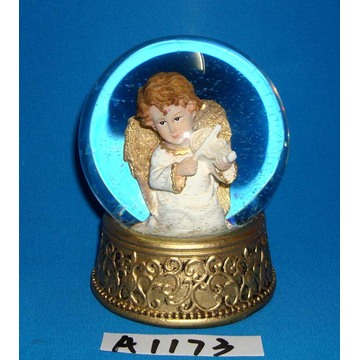 Christmas Decorative Resin Gold Angel Globe d'eau