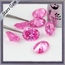 Hermosa zirconia cúbica de gran tamaño rosa exquisita de calidad superior