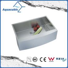 Évier de cuisine à encastrer fait main avec égouttoir (ACS3021A1Q)