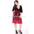 2017 nouveau design dames robe Chic Summer Fashion Plus Size femmes vêtements bohème robe