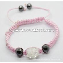 2012 bijoux battants, bracelet tissé à la main en cristal de shamballa en cristal