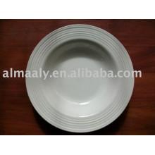 Alta qualidade em relevo placa de porcelana placa de jantar placa de cerâmica
