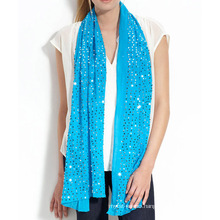 15JW108 glitter silk cashmere shawl with sequin