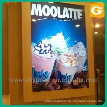 Billboard de crème glacée de support de mur, affiche de film rétro-éclairé