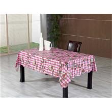 Toalha de mesa impressa PVC do revestimento protetor não tecido popular quente com projeto do vegetal e do fruto