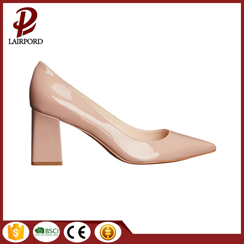 Cowhide leather hot sale ladies shoes spring