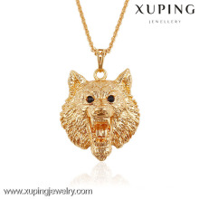 Xuping bijoux cool lion en forme de pendentif animal plaqué or