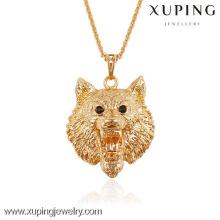 Xuping украшения Лев образный позолоченные животных кулон