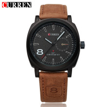 curren quartz watch bezel insert with sub-dial design