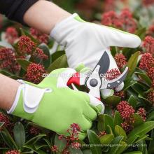 Hot Sell Women's Garden Safety Work Glove, Hand Protection Pigskin Leather Gardening Gloves, Fashionable Ladies Garden Glove