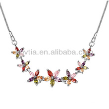 Hawaiian Stimmung Halskette Splitter Schlange Ketten Halskette farbigen kubischen Zirkon Blume Halskette