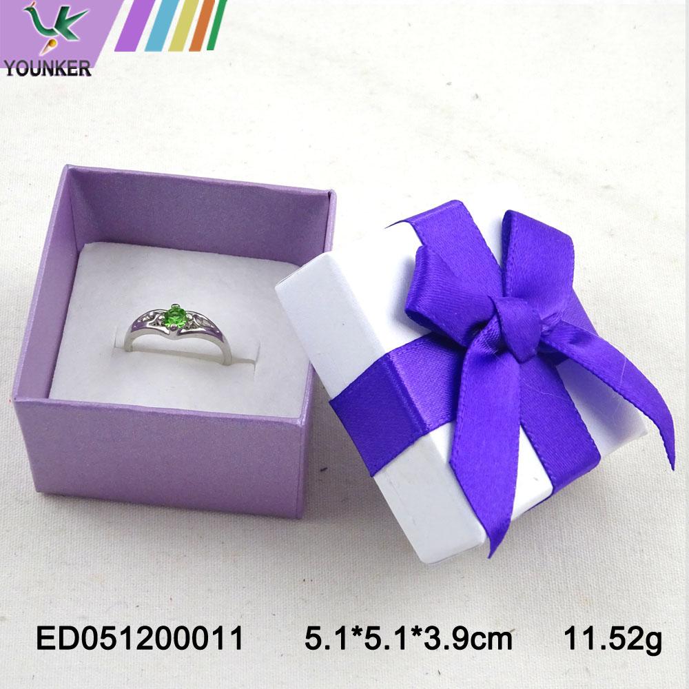 Elegant Ribbon Ring Boxes 009