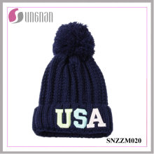 2016 Latest Leisure Fluorescent Luminous Embroidery Letter Knitted Hats