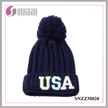 2016 derniers chapeaux tricotés par lettre fluorescente lumineuse de loisirs de loisirs