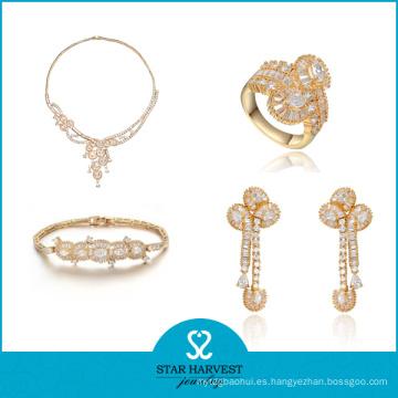 Brazaletes y collar de bodas de plata esterlina para mujeres (J-0047)