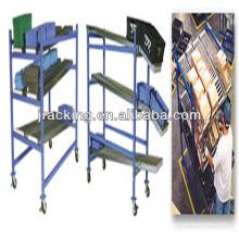 Rack de dispensador, galvanizado Rack de fluxo de caixa de engrenagem ajustável