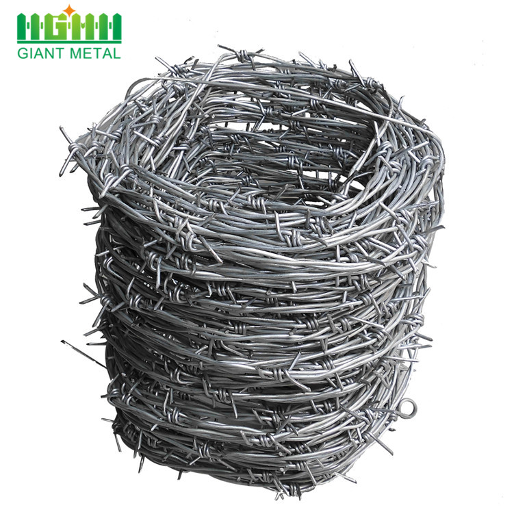 Double+Twisted+Hot+Dipped+Galvanized+Barbed+Wire