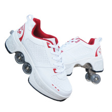 New product wholesale high quality Four wheels man sport parkour casual shoes unisex woman running sports sneakers