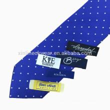 Rótulo de gravata tecido privado de alta qualidade